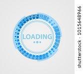 circular loading sign in a... | Shutterstock .eps vector #1015648966
