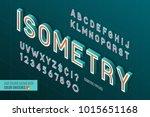 isometric alphabet. 3d letters... | Shutterstock .eps vector #1015651168