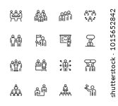 line icon set of office...