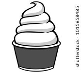 cup of ice cream illustration   ...   Shutterstock .eps vector #1015658485