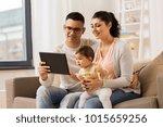 family  technology  parenthood... | Shutterstock . vector #1015659256