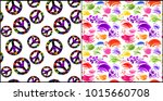 collection abstract seamless... | Shutterstock .eps vector #1015660708