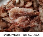 shrimp shell  raw seafood  | Shutterstock . vector #1015678066