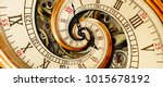 golden yellow antique old clock ... | Shutterstock . vector #1015678192