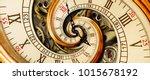 golden yellow antique old clock ... | Shutterstock . vector #1015678192