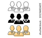 flat and thin line icons for... | Shutterstock .eps vector #1015682605
