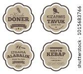 set of turkish fast food labels ... | Shutterstock .eps vector #1015683766
