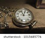 vintage pocket watch | Shutterstock . vector #1015685776