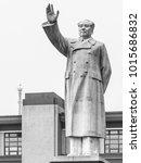 Small photo of CHENGDU, CHINA - AUGUST 27, 2012: Statue of Chairman Mao Zedong on Tianfu Square, Chengdu, Sichuan Province, China