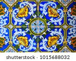 detail of the traditional tiles ... | Shutterstock . vector #1015688032