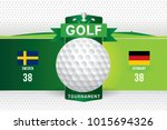 vector of golf tournament with... | Shutterstock .eps vector #1015694326
