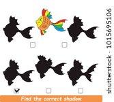rainbow fish beautiful shadow... | Shutterstock .eps vector #1015695106