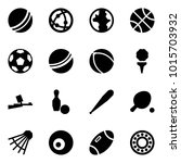 origami style icon set   ball... | Shutterstock .eps vector #1015703932