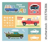vector template with pickup... | Shutterstock .eps vector #1015706386