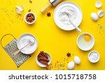 easter bakery concept  various... | Shutterstock . vector #1015718758