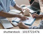 business concept   close up...   Shutterstock . vector #1015721476