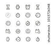 time related icons  thin vector ... | Shutterstock .eps vector #1015726348