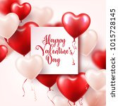valentine's day abstract... | Shutterstock .eps vector #1015728145