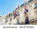 british flags flying on the...   Shutterstock . vector #1015735402