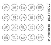 set round line icons of fast... | Shutterstock .eps vector #1015745722