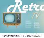 Vector Poster Of Vintage Tv Se...