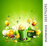 st. patrick's day template with ... | Shutterstock .eps vector #1015752292