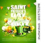 st. patrick's day party poster...   Shutterstock .eps vector #1015752298