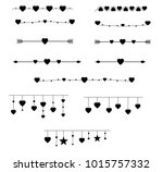 vector set of isolated dividers.... | Shutterstock .eps vector #1015757332