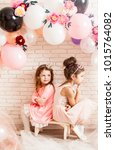 the cute little princesses   Shutterstock . vector #1015764082