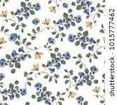 vintage seamless pattern design ... | Shutterstock . vector #1015777462