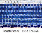blue mosaic pattern | Shutterstock . vector #1015778368
