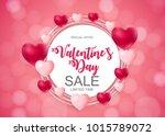 valentines day sale  discount... | Shutterstock . vector #1015789072