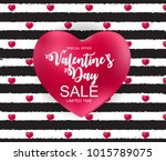 valentines day sale  discount... | Shutterstock . vector #1015789075