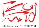 arrows hand drawn coarse brush...   Shutterstock .eps vector #1015800208
