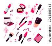 cosmetics vector illustration ... | Shutterstock .eps vector #1015805365