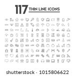 set of 117 icons with different ...