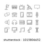 set of line icons of... | Shutterstock .eps vector #1015806652