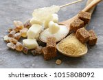 white and brown sugar sand and... | Shutterstock . vector #1015808092
