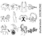 zodiac signs | Shutterstock .eps vector #101581582