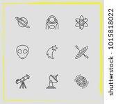 astronomy line icon set...   Shutterstock .eps vector #1015818022