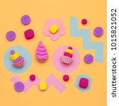 set of sweets. candy mood.... | Shutterstock . vector #1015821052