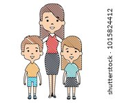 cute mother avatar character... | Shutterstock .eps vector #1015824412