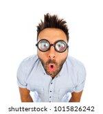 caucasian man with surprised...   Shutterstock . vector #1015826242