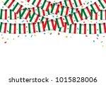 tajikistan flags garland white... | Shutterstock .eps vector #1015828006
