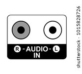 jack connector icon  audio... | Shutterstock .eps vector #1015828726