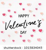 happy valentines day typography ... | Shutterstock .eps vector #1015834045
