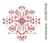 vector hipster tribal geometric ... | Shutterstock .eps vector #1015837018