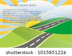 landscape background with green ... | Shutterstock .eps vector #1015851226