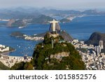 aerial view on the corcovado in ... | Shutterstock . vector #1015852576