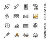 icons architecture. vector... | Shutterstock .eps vector #1015855546